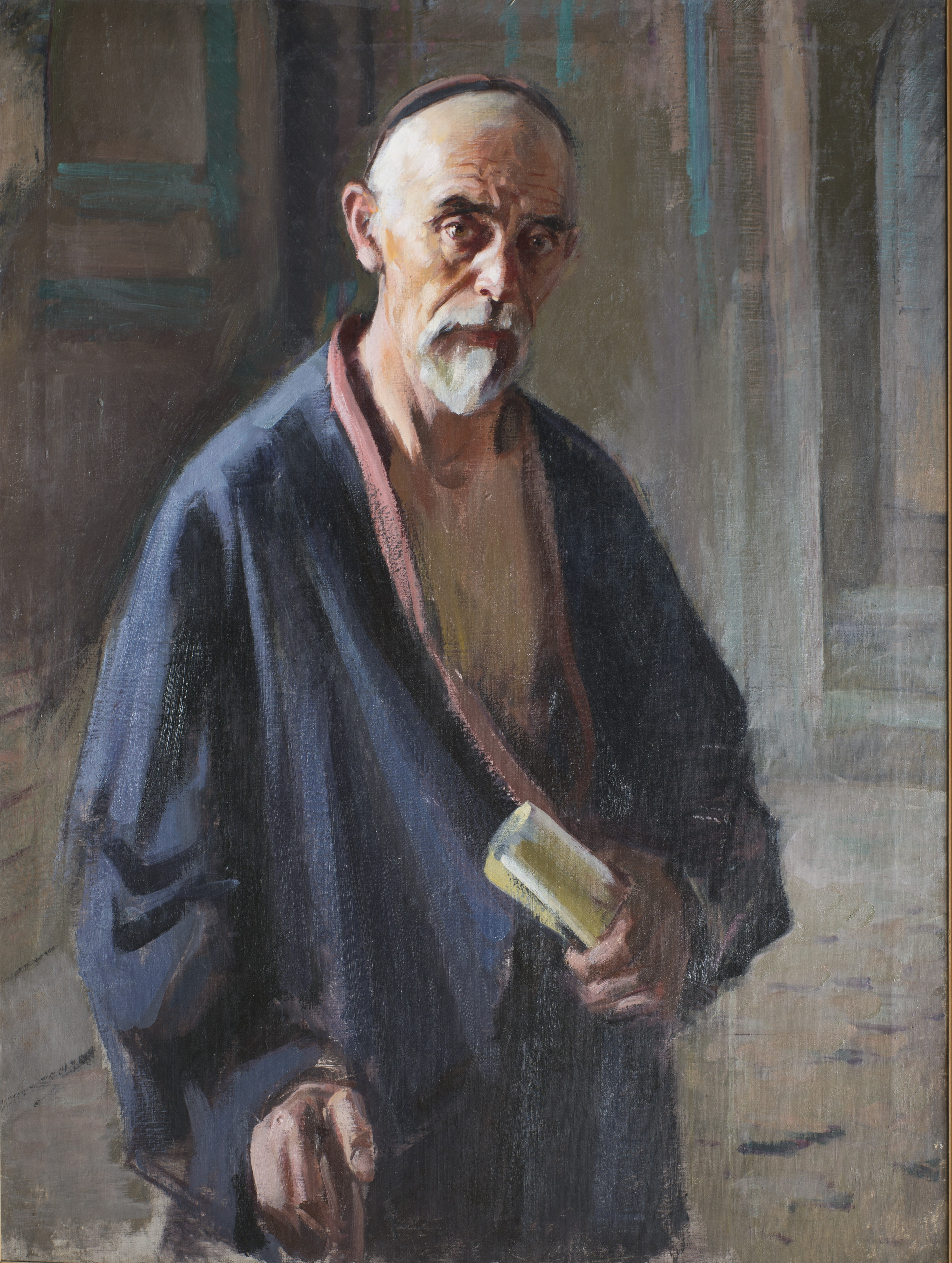 П. Беньков. Портрет старика (со свитком в руке). 1940-1945. Х., м. 127х95 см.jpg