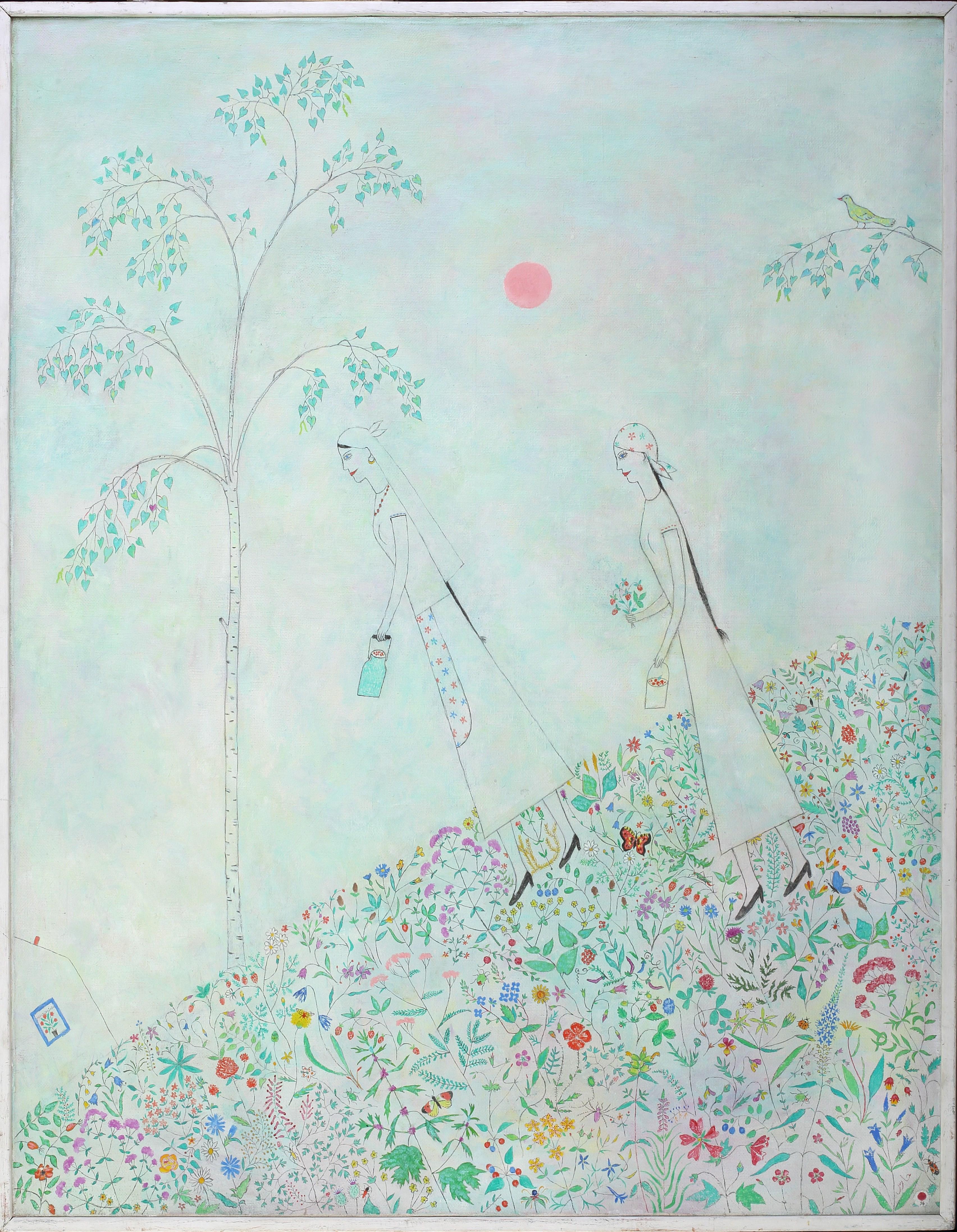 Ринат Харисов. За ягодами. 1996. Холст, акрил. 146х114. Коллекция Фонда Марджани.jpg