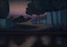Александр Акилов. Вечерний ритуал. 2010 Холст, масло. Коллекция Фонда Марджани