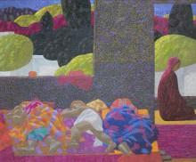 Азам Атаханов. Утренняя молитва. 2007 Холст, масло. Коллекция Фонда Марджани