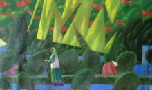 Весной в Лучобе.  2016. х.м. 55х93 Фонд Марджани