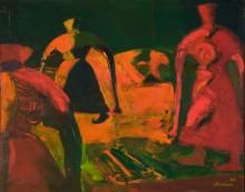Аладдин  Гарунов. Движение в ночь. 1989 Холст; масло. Коллекция Фонда Марджани
