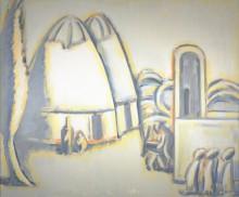 Аннамухамед Зарипов. Белый аул. 1981  Холст, масло. Коллекция Фонда Марджани