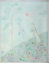 Ринат Харисов За ягодами 1996 Холст, акрил 146х114 Коллекция Фонда Марджани