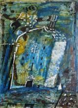 Эдуард Путерброт Из серии Проповедь 1991 год Картон, смешанная техника 67х49 см  Собственность Антона Путерброта