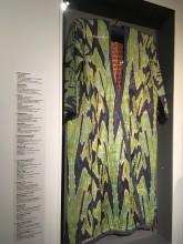 Мужской халат. Конец XIX в. Средняя Азия. Полушелковая ткань адрас, икат, подкладка - ситец и ручная набойка.