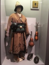 Экспозиция выставки с кашкулем из коллекции Фонда Марджани